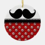 Retro Handlebar Mustache Moustache Ceramic Ornament