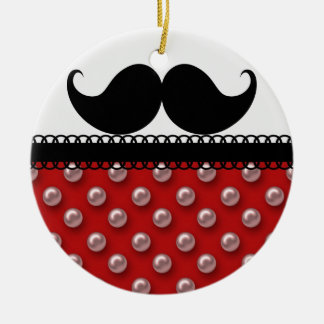 Retro Handlebar Mustache Moustache Ceramic Ornament