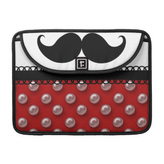 Retro Handlebar Mustache Moustache MacBook Pro Sleeves