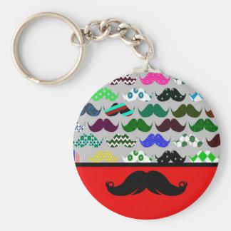 Retro Handlebar Mustache Moustache Stache Keychain