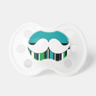 Retro Handlebar Mustache Moustache Stripes Pacifiers