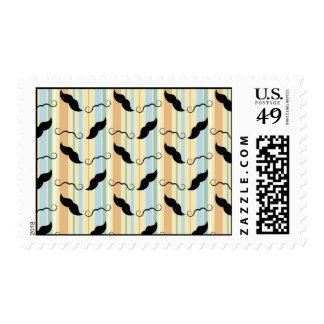 Retro Handlebar Mustache Stamps