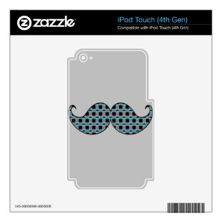 Retro Handlebar Mustache iPod Touch 4G Decals