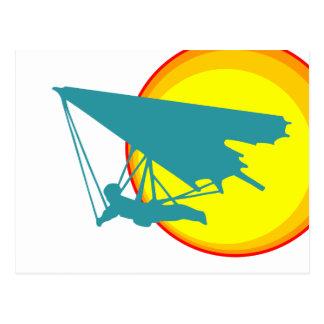 retro hang glider postcard