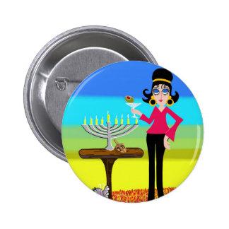 Retro Hanukkah and a Martini Pinback Button