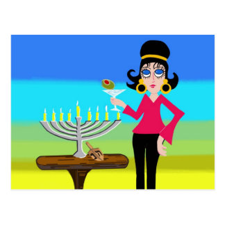 Retro Hanukkah and a Martini Postcard