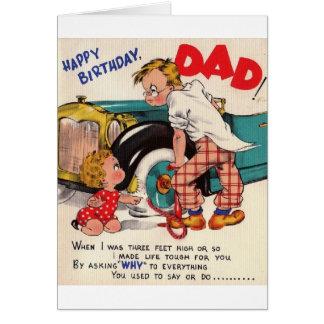 Retro Happy Birthday Dad Birthday Card