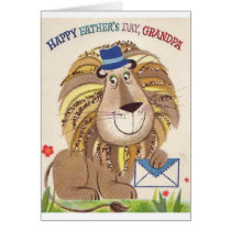 Retro Happy Father's Day Grandpa Card