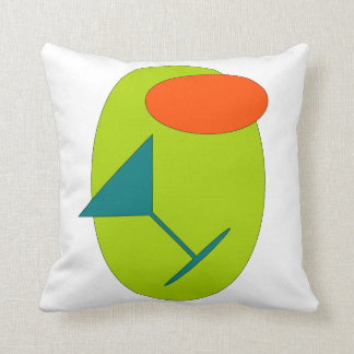 Retro Happy Hour Martini Throw Pillow