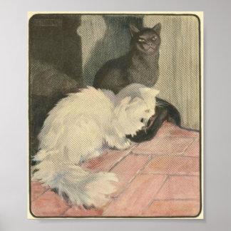 Retro Happy Housecats Artwork Poster