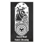 Retro Happy Lady Maid Chalkboard Cleaning Services Business Cards