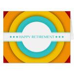 retro happy retirement large greeting card