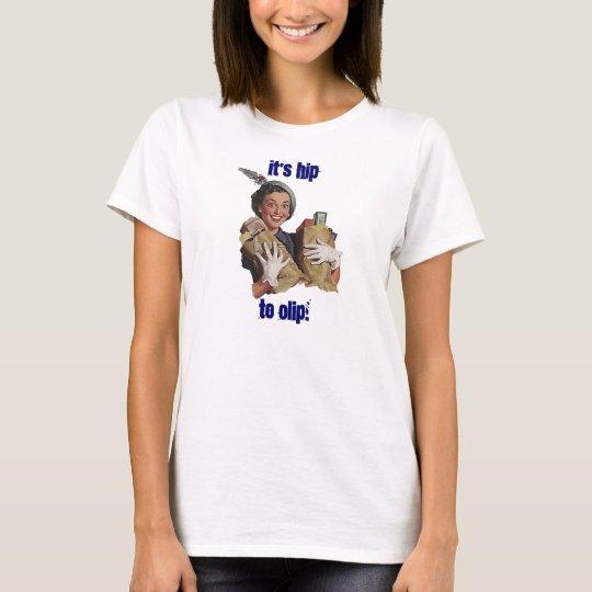 Retro Happy w/ Purchases Grocery Shopper Fun Cute T-Shirt