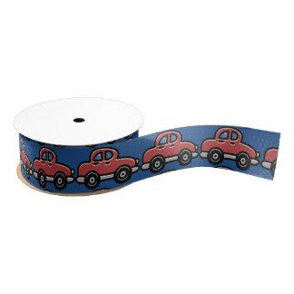 Retro Hard-Top Cars (Marsala Red) Grosgrain Ribbon