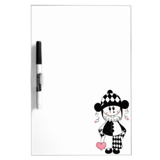 Retro Harlequin Clown Dry-Erase Board