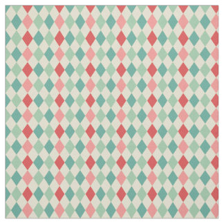 Retro Harlequin Geometric Pattern Fabric