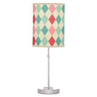 Retro Harlequin Geometric Pattern Table Lamp