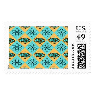 Retro Harlequin Globe Trotter Postage Stamps