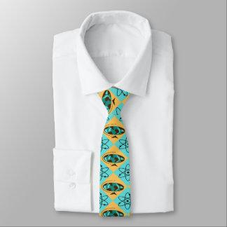 Retro Harlequin Globe Trotter Skinny Tie