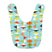 Retro Harlequin Pattern Baby Bib