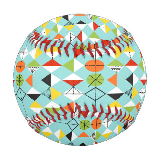 Retro Harlequin Pattern Custom Baseball