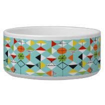 Retro Harlequin Pattern Dog Bowl