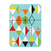 Retro Harlequin Pattern Flexi Magnet