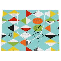 Retro Harlequin Pattern Gift Bag
