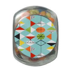 Retro Harlequin Pattern Glass Candy Jar at Zazzle