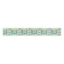 Retro Harlequin Pattern Grosgrain Ribbon
