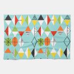 Retro Harlequin Pattern Kitchen Towel