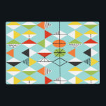 "Retro Harlequin Pattern Laminated Placemat<br><div class=""desc"">This Retro Harlequin Pattern Customizable Laminated Placemat is mid century modern style at its finest. The vintage inspired design features an aqua background with rows of triangular shapes forming a harlequin pattern. The two-toned diamond shapes are yellow, white, red, orange, black, green, and white with black accents. But wait, there's...</div>"
