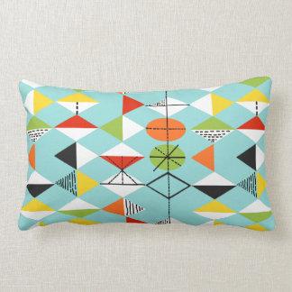 Retro Harlequin Pattern Lumbar Pillow