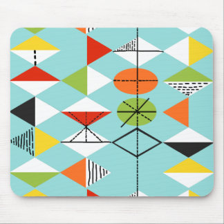 Retro Harlequin Pattern Mousepad