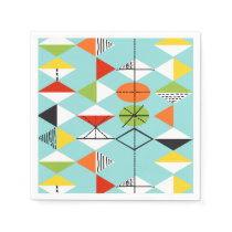 Retro Harlequin Pattern Paper Napkins
