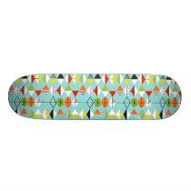 Retro Harlequin Pattern Skateboard
