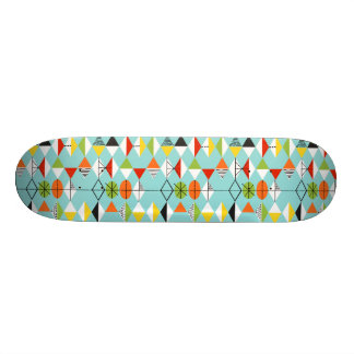 Retro Harlequin Pattern Skateboard