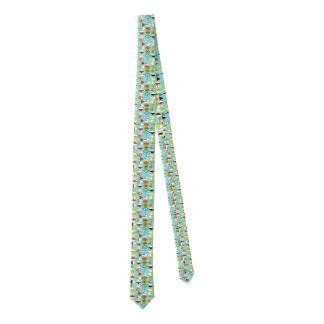Retro Harlequin Pattern Skinny Tie