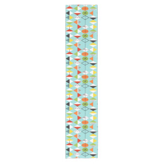 Retro Harlequin Pattern Table Runner