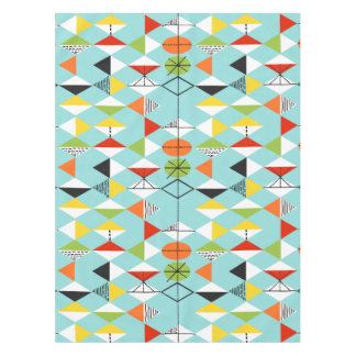 Retro Harlequin Pattern Tablecloth
