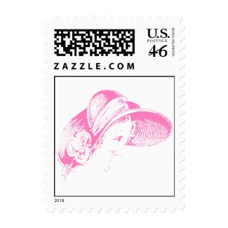 Retro Hat Fashions Flapper Style Postage Stamps stamp