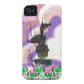 Retro Haunted House Blackberry Bold Cover
