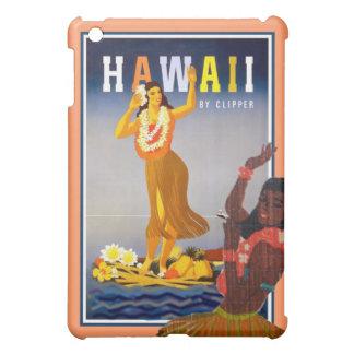 Retro Hawaii Travel hula dancer art Cover For The iPad Mini