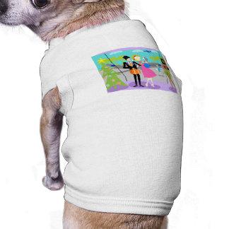 Retro Hawaiian Christmas Dog Shirt