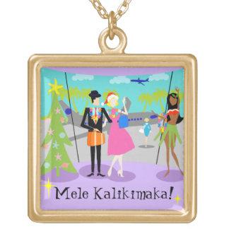 Retro Hawaiian Christmas Necklace