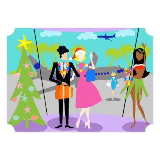 Retro Hawaiian Christmas Party Invitation