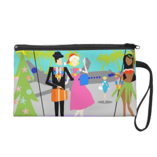 Retro Hawaiian Christmas Wristlet