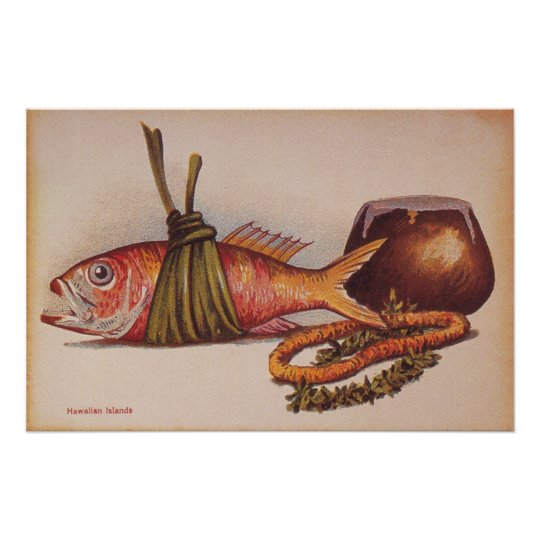 Retro Hawaiian Luau Poster