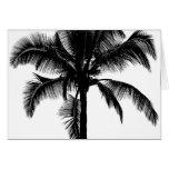Retro Hawaiian Tropical Palm Tree Silhouette Black Cards