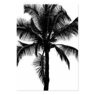 Retro Hawaiian Tropical Palm Tree Silhouette Black Large Business Card